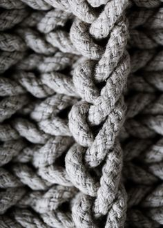 Grey rope for texture study Textiles, Knitted Pouf, Knitted Throws, Gray Aesthetic, Gray Matters, Fifty Shades Of Grey, Natural Texture, Light Texture, My Favorite Color