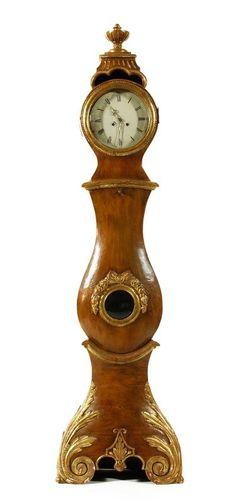 Shapely 18th C. Swedish Tall Clock, formerly belonging to Oprah Winfrey.