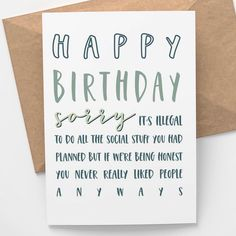 16th Birthday Card, 50th Birthday Quotes, Happy Birthday Wishes Cards, Birthday Card Sayings, Cute Birthday Gift, Birthday Sentiments, Birthday Gifts For Best Friend, Card Sentiments, Funny Birthday Cards