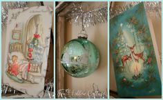 Vintage Thrift Store Decor Ideas for Christmas. #Christmas #vintage