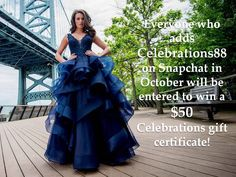 Add us on Snapchat @Celebrations88 in October '16 to be entered to win a $50 Celebrations gift certificate!!!