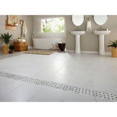 Calacatta white for flooring Mosaic Wall Tiles, Marble Mosaic, Stone Mosaic, Stone Tiles, Marble Wall, Shower Floor, Tile Floor, Border Tiles, Dream Bathrooms