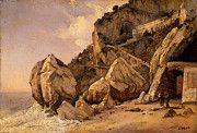 """New artwork for sale! - """" Corot Rocks In Amalfi by Jean Baptiste Camille Corot """" - http://ift.tt/2p1DDM0"""