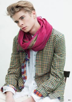 Frederik Tölke and an outfit from the Tomorrowland SS12 catalog.