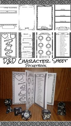 DnD Character Sheet Pocketmod Presentation by RippleInThePond on DeviantArt Dungeons And Dragons Characters, D&d Dungeons And Dragons, D D Characters, Rpg Character Sheet, Character Creation, Character Bank, Game Master, Dungeon Master's Guide, Game Design