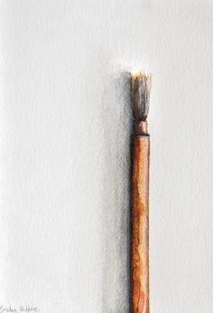 Original figurative art drawing Japanese brush by SimpleArtStudio
