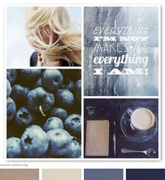 color combo - love! Blue, navy, taupe, grey...