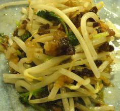 Sojasprossen mit Kōbe Speck, Japan