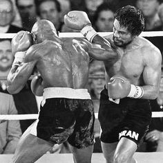 He had famous fights against Marvin Hagler (above), Sugar Ray Leonard and Tommy Hearns Johnny Tapia, Marvelous Marvin Hagler, Ricky Hatton, Miguel Cotto, Sugar Ray Robinson, Boxing Images, Boxing History, Champions Of The World, Boxing
