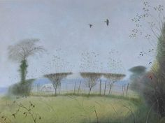 NICHOLAS HELY HUTCHINSON  Winter Hedgerow Oil on canvas 24 x 32 ins