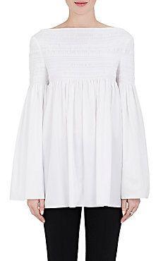 Burton Smocked Stretch-Cotton Poplin Shirt