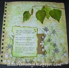 Paper - Stamps - Color: An art journal page