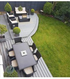 Amazing Ideas for Small Backyard Landscaping - My Backyard ideas Back Garden Design, Modern Garden Design, Backyard Patio Designs, Small Backyard Landscaping, Backyard Ideas, Hot Tub Backyard, Pinterest Garden, Roses Pinterest, Garden Makeover
