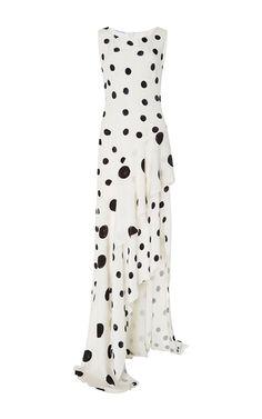 Sleeveless Polka Dot Gown by Oscar de la Renta | Moda Operandi