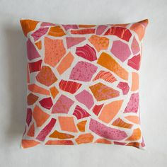 Terrazzo print cushion - pinks / Hazel Stark