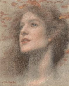 Edward Robert Hughes, With the Wind, late 19th-early 20th century (source).