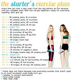 How to start exercising - easy day by day plan