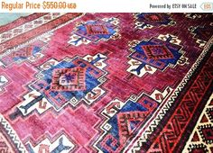 40% OFF SALE Antique Saryq Sistan Balouch Nomad Rug by TEKKARUG