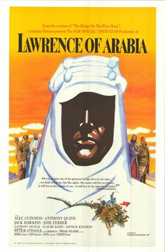 1962 Lawrence Of Arabia..a great movie. Even the David the robot in Prometheus was impressed by Peter O'Toole