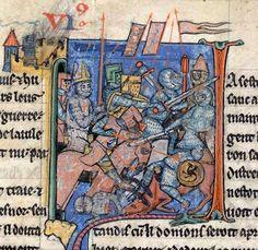 La batalla de Antioquia. Manuscrito Yates Thompson.