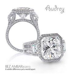 Bez Ambar's Audrey engagement ring. #diamondjewelry #engagementrings  www.bezambar.com