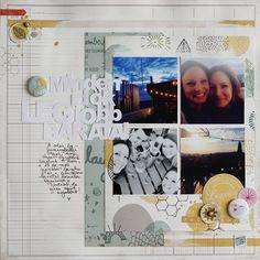 Minden idők legjobb barátnői | scrapbook inspiráció by Mounier Noémi @Scrapfellow