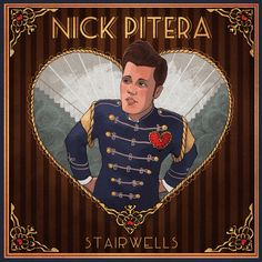 "Finalized album art for Nick's upcoming EP ""Stairwells"". Love it! ❤️"