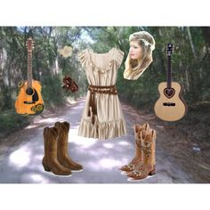 A fashion look from May 2012 featuring western boots shoes, floral boots and flower jewelry. Browse and shop related looks. Country Girls Outfits, Country Girl Style, Country Dresses, Country Fashion, Girl Outfits, Cute Outfits, My Style, Floral Boots, Florida Girl