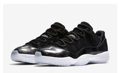 size 40 25877 8de7e Air Jordan 11 Low Black Metallic Silver Release Date. This Air Jordan 11  Low has a Barons color scheme dressed in Black and Metallic Silver for  Summer