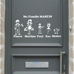 Les stickers Zousticks à l'image de votre famille sur votre porte
