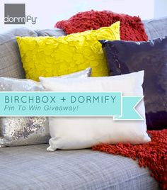 Birchbox + Dormify Pin To Win Giveaway! Enter for a chance to win a 250.00 dollar Dormify gift certificate: http://www.birchbox.com
