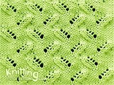 Alternating Leaf/Leaves Lace Stitch.