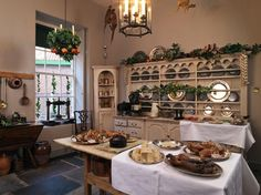 The Kitchen at Fairfax House in York in preparation for Christmas and the inspiration for '13 Piccadilly Terrace circa 1815'...