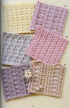 Mis Pasatiempos Amo el Crochet: Muestrario de puntos en ganchillo
