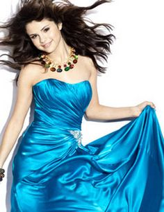 SELENA GOMEZ in blue   Selena Gomez Photo in Blue Dress #16 ...