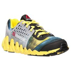 Youth Boys Reebok Zigtech Big N Fast EX Sneaker Shoes Size 7 Yellow Black  V65742