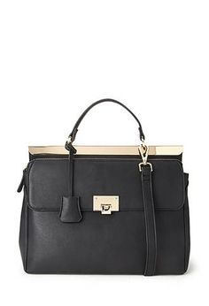 Convertible Faux Leather Satchel from Forever 21 $29,90