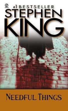 NEEDFUL THINGS (The Last Castle Rock Story) by Stephen King - http://www.amazon.com/gp/product/B002SKZBRC/ref=cm_sw_r_pi_alp_5bMZqb04YZK0Q