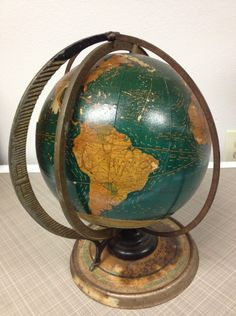 Visit the post for more. World Globe Map, Globe Art, World Globes, Map Globe, Vintage Globe, Vintage Maps, Globe At Home, What A Wonderful World, Plans