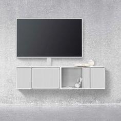 Billedresultat for montana reol Floating Entertainment Unit, Floating Tv Unit, Home Tv, Suspended Shelves, Montana Furniture, Tv Cabinet Design, Tv Cabinets, Sideboard, Modern