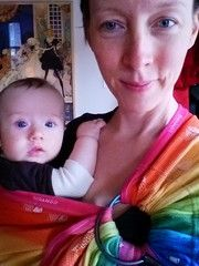 3a428e2e97c DIDYMOS Rainbow Fish action DidySling Ring Sling 1R - review for Little Zen  One