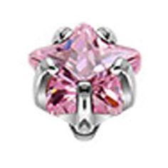 Dermal steen roze Anchor Piercing, Dermal Anchor, Piercings, Aqua, Engagement Rings, Floral, Jewelry, Products, Dermal Piercing