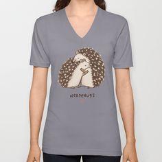 Hedgehugs+Unisex+V-Neck+by+Sophie+Corrigan+-+$24.00