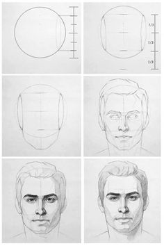 Face drawing reference (Drawing Step)