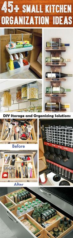 Home Decor Inspiration : 45 Small Kitchen Organization And DIY Storage Ideas Cute DIY Projects ce Small Kitchen Organization, Diy Storage, Organization Hacks, Kitchen Storage, Kitchen Decor, Storage Ideas, Small Storage, Storage Hacks, Kitchen Ideas