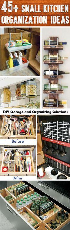 45 Kitchen DIY Organization And Storage Ideas - http://comfyhomeideaz.com/45-kitchen-diy-organization-and-storage-ideas/