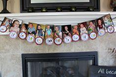 First year photo birthday banner idea