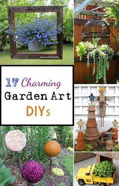 Kaila's Place| 17 Charming DIY Garden Art Ideas
