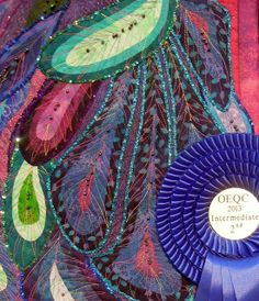 """Close up, """"Catching Beauty"""" by Sylvia Kaptein (The Netherlands).  Exhibited at the 2013 Houston IQF.  Photo by Quilt Inspiration"""