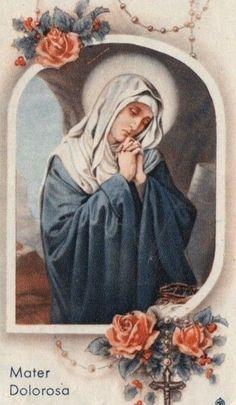 Catholic Prayers, Catholic Art, Catholic Saints, Mother Mary Images, Images Of Mary, Blessed Mother Mary, Blessed Virgin Mary, Vintage Tattoo Art, Mary Tattoo